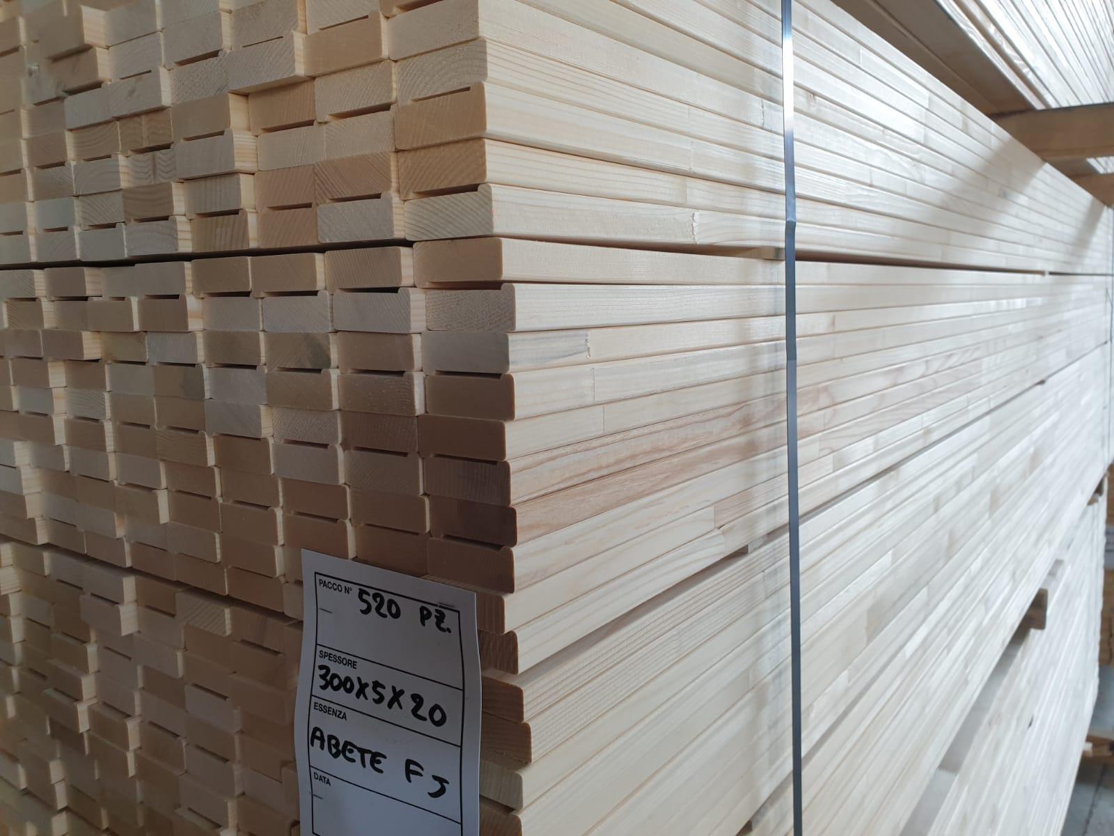 ABETE FINGER JOINT 1 - SP 20 E 30 - lungh mt 3, largh cm 5 e 7, ideale per produzione strutture tenditela per quadri e dipinti (3)